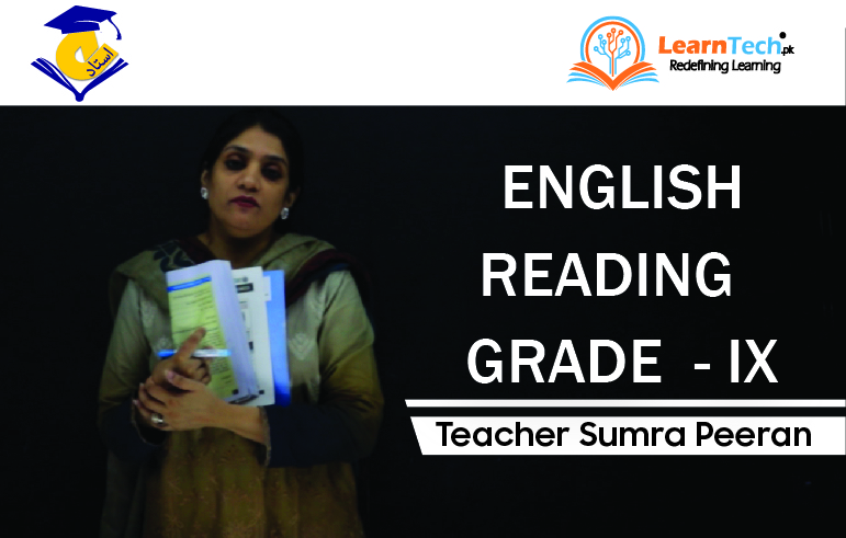 CONDENSED COURSE ENGLISH READING-I (SSC PART-I GRADE - IX  OF ACADEMIC YEAR 2020-21)