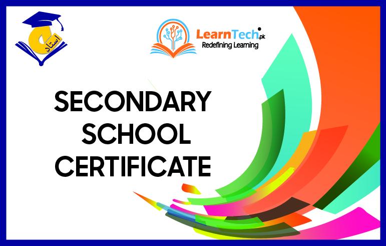 Secondary School Certificate (SSC IX & X)